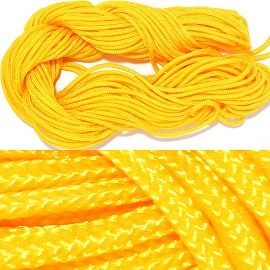 "55' Feet Woven Shamballa String 1/16"" Wide Dark Yellow Ns457"
