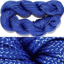 "55' Feet Woven String 1/16"" Wide Royal Blue Ns458"