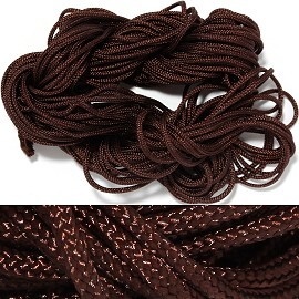 "55' Feet Woven String 1/16"" Wide Brown Ns462"