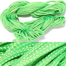"55' Feet Woven String 1/16"" Wide Lime Green Ns464"