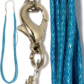 "1pc 18"" 8-String Rope Cord Turquoise Ns470"