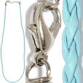 "1pc 23"" Braided Rope Cord Sky Blue Ns485"