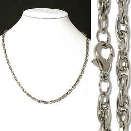 "1pc 18"" Chain Necklace Silver 4mm Wide Ns523"