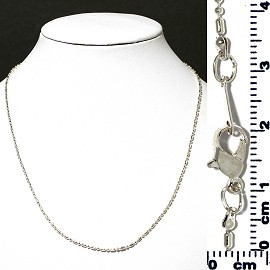 "1pc 16"" Chain Choker Necklace Silver 2mm Wide Ns539"