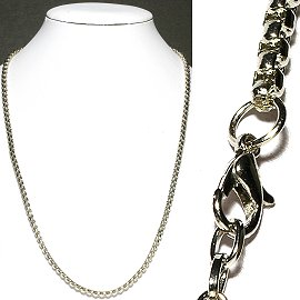 "1pc 19"" Long 4mm Wide Chain Necklace Ns543"