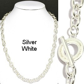 "1 pc Silver White 20"" Chain Toggle Clasp Ns551"
