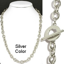 "1 pc Silver 20"" Chain Toggle Clasp Ns552"