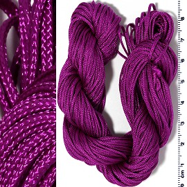 "55' Feet Woven Shamballa String 1/16"" Wide Purple Ns553"
