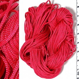 "55"" Feet Woven String 1/16"" wide Baby Red Ns555"