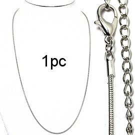 "1pc 19""Silver chain 1.5mm Ns573"