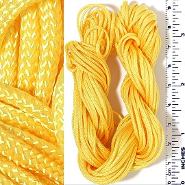"55' Feet Woven Shamballa String 1/16"" Wide Yellow Ns633"