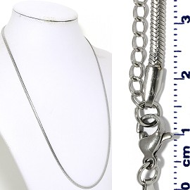 "1pc 20"" to 22"" Stainless Steel Chain Necklace 3x1mm Ns646"