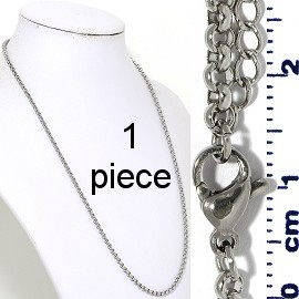 "1pc 20"" to 22"" Stainless Steel O Chain Necklace 3mm Ns650"