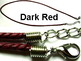 "50pcs-pk 18"" Cord Twisted Dark Red NK078"