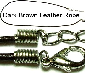 "18""Dark Brown Leather Rope Ns94"