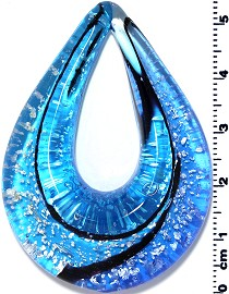 Glass Pendant Final Sale Oval Point Blue PD1205