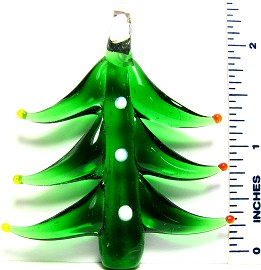 Christmas Tree Green Glass Pendant PD1387