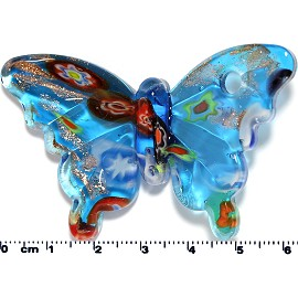 Glass Butterfly Pendant Final Sale Sky Blue PD1429