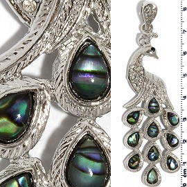 1pc Abalone Pendant Peacock Green PD3582