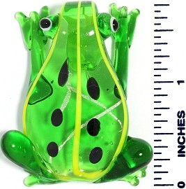 Glass Pendant Frog Green Yellow PD3623