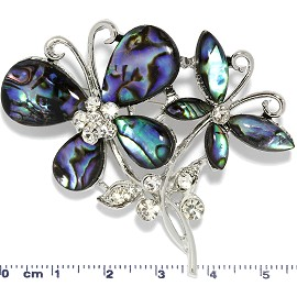 Abalone Rhinestone Brooch Butterfly Pin Brooch PD3988