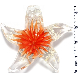 Glass Starfish Orange Pendant PD3999