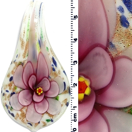 Glass Spoon Pendant Pink White Green Blue PD4017