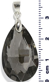 Tear Drop Shaped Crystal Pendant Dark Gray PD4067
