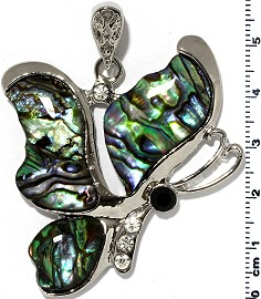 Abalone Pendant Butterfly PD441