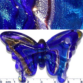 Glass Pendant Butterfly Blue PD962