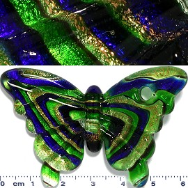 Glass Pendant Butterfly Green PD964