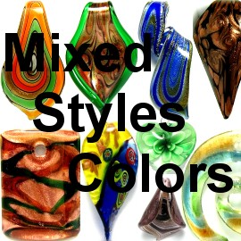 Mix Best Sellers Glass Pendants 12pcs PDMIX12