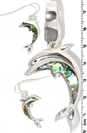 Dolphin Abalone pendant Earring Set PD212