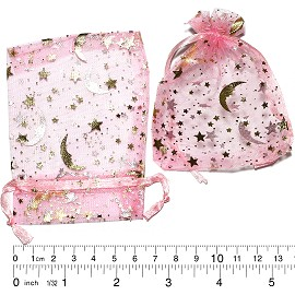 "100pcs 3.5x2.75"" Inches See Through Pouch Pink Gold PH11"