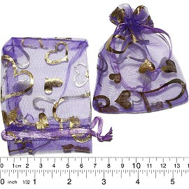 "100pcs 3.5x2.75"" Inches See Through Pouch DK Purple Gold PH14"