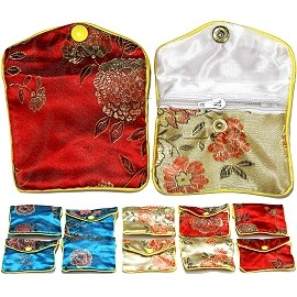 "12 Pcs 3x2.5"" Mix Color Soft Asian Pouches PH21"