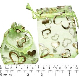 "100pcs 3.5x2.75"" Inches See Through Pouch Lime Green Gold PH25"