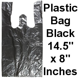 "100pcs Plastic Bag Black 14.5""x8"" PH57"