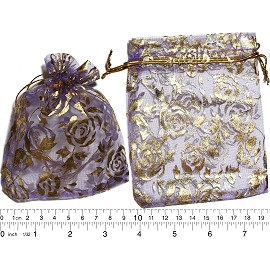 "100pcs 3.5x2.75"" Inches See Through Pouch Lt Lavender Gold PH31"