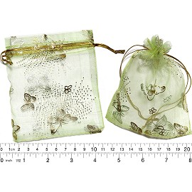 "100pcs 3.5x2.75"" Inches See Through Pouch Light Green Gold PH42"