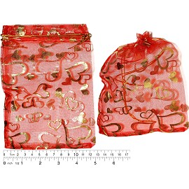 "100pcs 6.75x5"" Inches See Through Pouch Red Gold PH44"