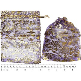 "100pcs 6.75x5"" Inches See Through Pouch Purple Gold PH47"