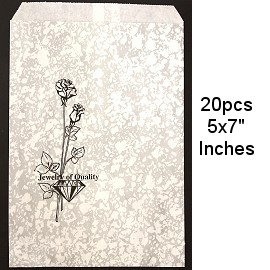 "Paper Gift Pouch Bags 20pcs 5x7"" PH53"