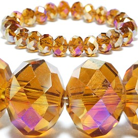 10mm Crystal Bracelet Stretch Gold Aura SBR1190