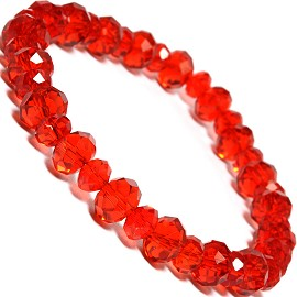 "Stretch Bracelet 6.5"" Long 8mm, 6mm Oval Crystal Red SBR337"