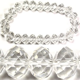 Stretch Crystal Bracelet 8mm Clear SBR406