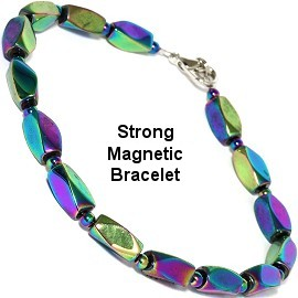 "Strong Magnetic Anklet or Bracelet 10"" Inches Hematite SBR445"