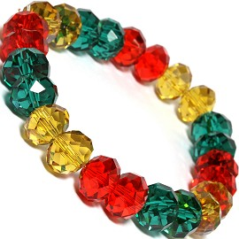 "12mm 8""Crystal Bracelet Yellow Red Teal SBR477"