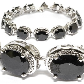 Peace Sign Stretch Crystal Bracelet Rhinestone Crystal SBR532