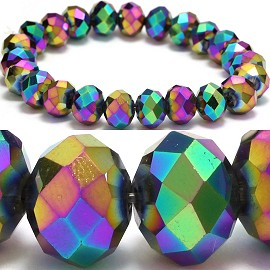 10mm Crystal Bracelet Stretch Solid Aura Borealis SBR646